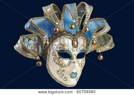 Isolated Blue Venetian Mask
