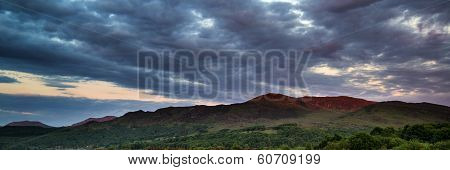 Panorama Landscape Snowdonia National Park Wales United Kingdom