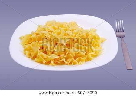 Plate With Noodles