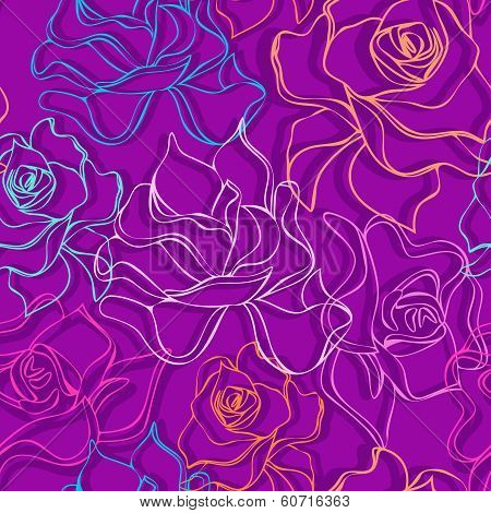 Rouse seamless pattern.