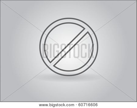 Flat icon of  prohibition sign