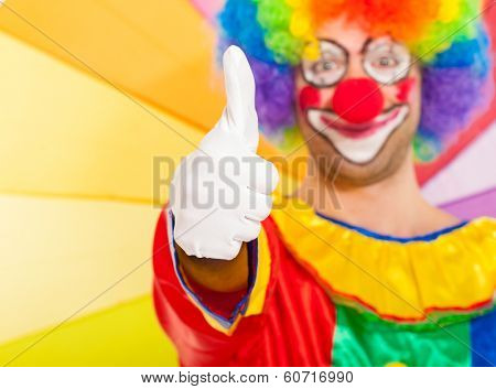 Clown giving thumbs up