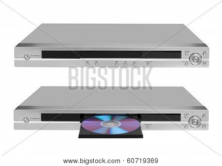 DVD player isolated on white background