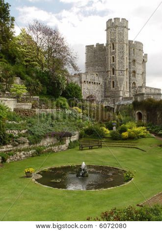 Garden In The Windsor Castle. Edward Tower