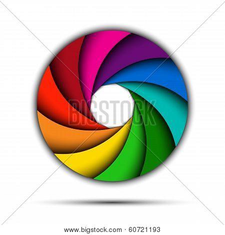Colorful rainbow swirl