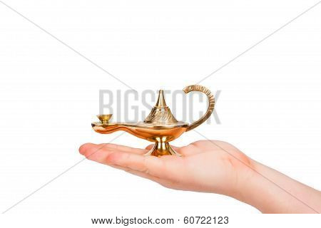 Aladdin Lamp In Hand