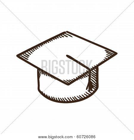 Graduation cap education symbol.