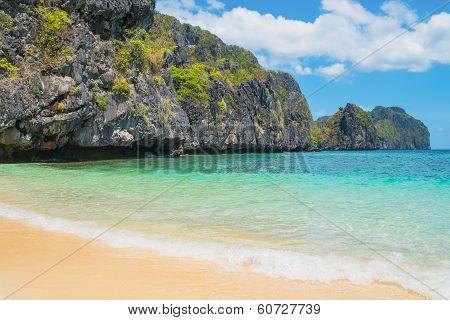 Beautiful Sandy Beach And Sea Shore