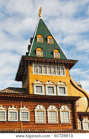 Tower Of Great Wooden Palace In Kolomenskoe Moscow