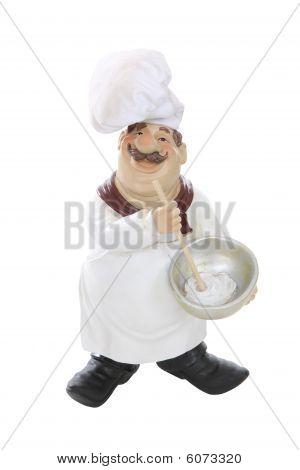 Fat Italian Chef Over White