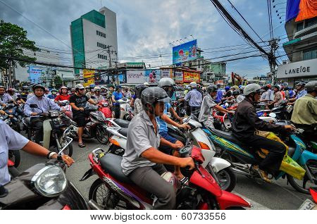Saigon, Vietnam - June 15: Road Traffic On June 15, 2011 In Saigon (ho Chi Minh City)