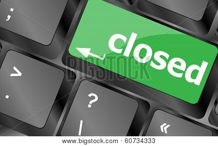 Closed Button On Computer Keyboard Pc Key
