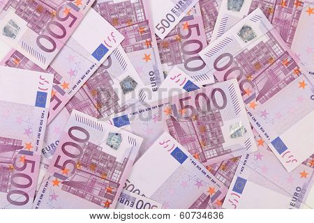 Five hundred euro notes