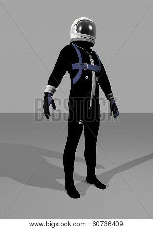 Mercury space suit - 3D render