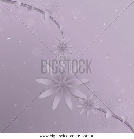 Purple Flower Vine Background