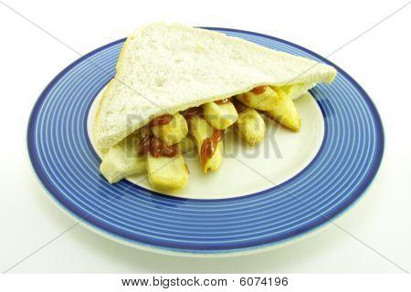 Frys In Bread On A Plate