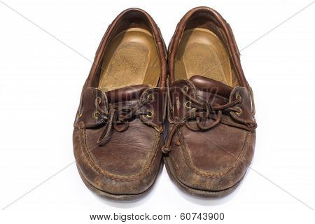 boat shoes or top-siders isolated