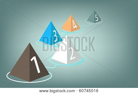 Infographics Business Triangle