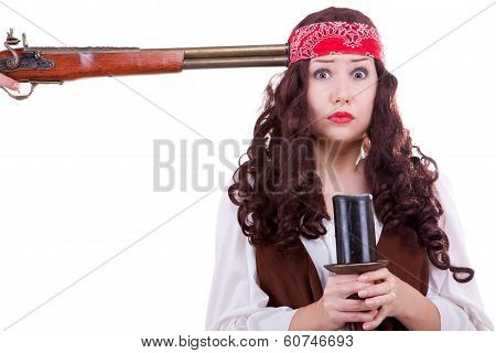 Pirate With Musket At Head