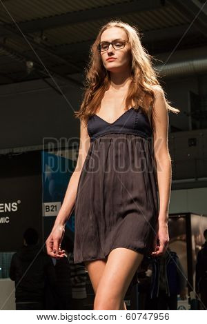 Pretty Girl Modelling With Glasses At Mido 2014 In Milan, Italy