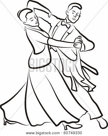 ballroom dancing - dancing couple