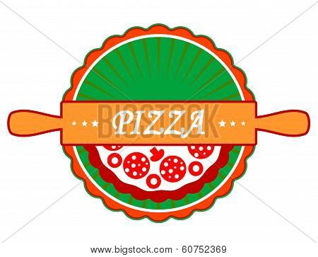 Pizza icon or label