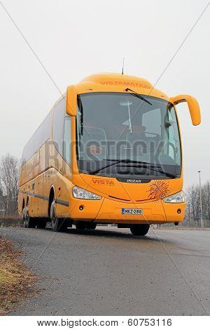 Yellow Scania Irizar PB Coach Bus