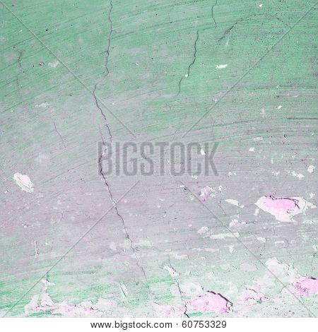 Green Grunge Textured Wall Closeup
