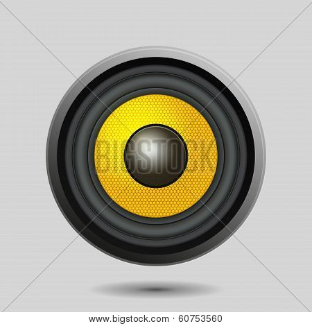 Audio Speaker on Light Background