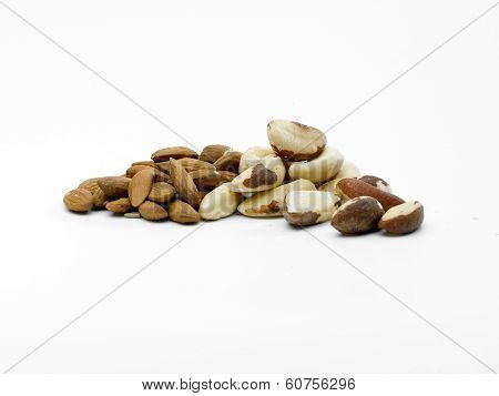 Almonds And Brazil Nuts