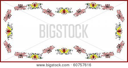 design for rectangle tablecloth with multicolor flowers