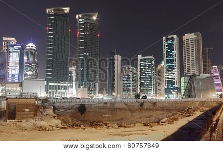 Construction Site In Doha Downtown
