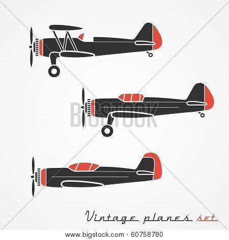Vintage planes set
