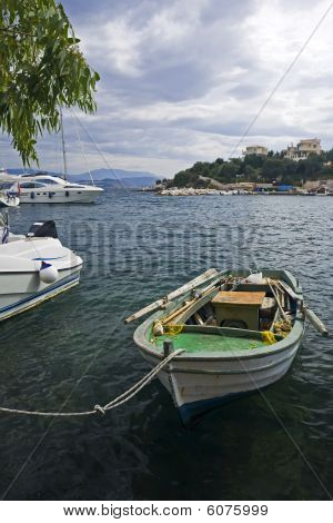 Fisherboat At Kassiopi Harbor, Corfu, Greece