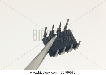 Integrated Circuit In White Background