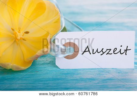 Label With Auszeit