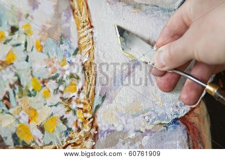 Hand With A Palette Knife