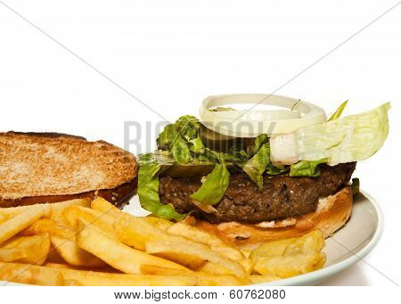 Veggie Burger with fries