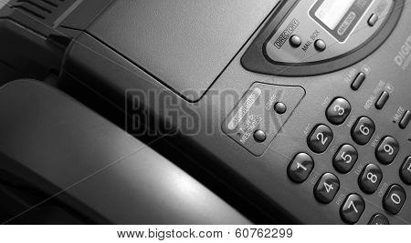 Black telephone  telefax keypad