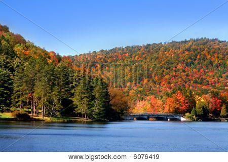 Scenic Autumn landscape in Allegheny