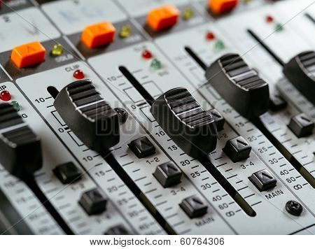 Recording Studio Faders