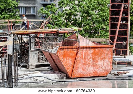 Container With Rubble