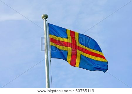 Aland Islands Flag.