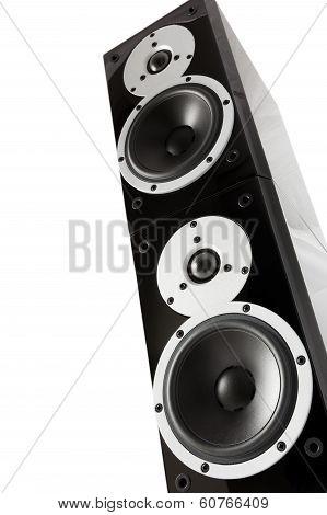Black High Gloss Loudspeaker Tower