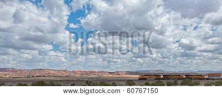 Route 66: A BNSF Train, Thoreau, NM