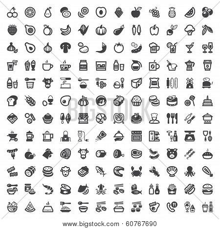 Food And Drink Flat Icons