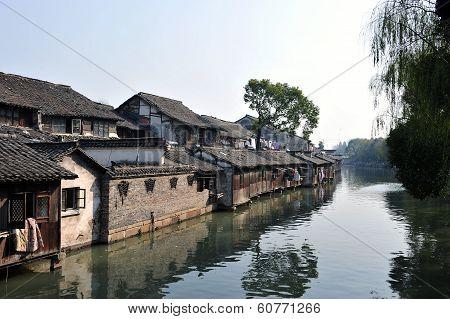 Beautiful Chinese water town, Wuzhen Suzhou Jiangsu China