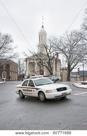 Sheriff car, Warrenton, Virginia