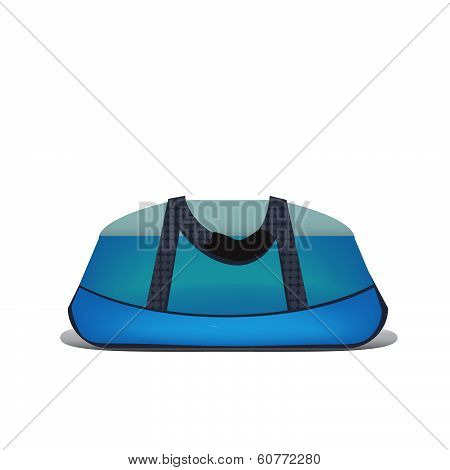 Isolated sports bag