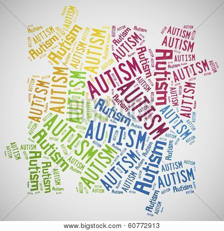 Word cloud Autism awareness related